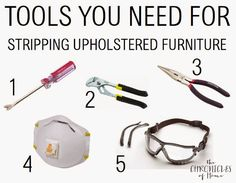 Essential tools for stripping and removing old upholstery - from The Chronicles of Home