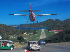 Flying into St. Barth. Best and most exciting landing ever! Shortest runway in the world...  www.glamoir.com
