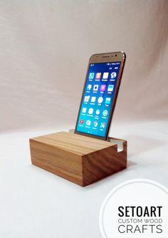 Desk organizer wood business card stand docking station by setoart docking station cell phone stand wooden phone stand by setoart colourmoves