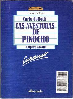 """Género: Cuaderno de actividades escolares (sobre la obra """"Las aventuras de Pinocho"""", de Carlo Collodi. Editorial: Alborada Ediciones (Col. """"La locomotora"""") Publicación: Madrid, 1988."""