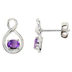 Buy Nina B Sterling Silver Twist Stud Earrings Online at johnlewis.com