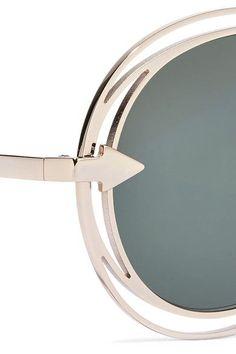 Karen Walker - Jacques Aviator-style Gold-tone Sunglasses - one size