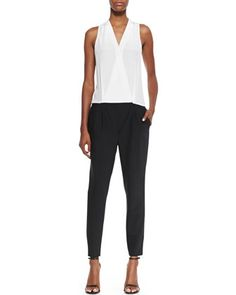 Tropical Suiting Jumpsuit, Black & White by Tibi at Neiman Marcus.