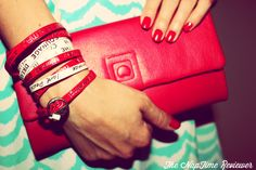 Travel Style:  Red Nails, Chevron Dress, Red Clutch and Leather Wrap Bracelets @Good Work(s) Make a Difference @DELSEY USA