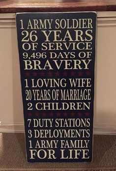 do this for Dad? - - - Military Retirement Sign 12x24 gift army by KimsKustomKreations1