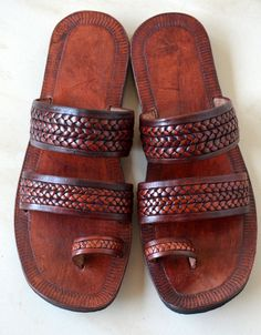 Moroccan Inspired Double Braided Leather by IncredibleIndia, $55.00