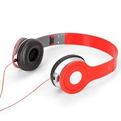 Fashion Adjustable Headband Earphones with Mic Bluetooth Stereo Headset, Bluetooth Headphones, Beats Headphones, Over Ear Headphones, Red Headband, Samsung Galaxy S5, Ipod, Store, Mini