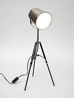 DESIGN LAMPE LAMPADAIRE LUMIÈRE TRÉPIED SPOT PROJECTEUR LAMPE DE TABLE CHROME + BRILLIBRUM FLYER