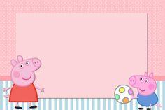 Kit Completo Peppa Pig - Kit Completo com molduras para convites, rótulos para guloseimas, lembrancinhas e imagens!