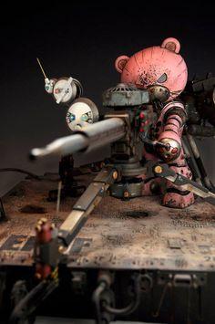 "Custom Build by Yasuhiro Otsuka - HGBF 1/144 Beargguy III ""Thunderbolt Edition"" [Dengeki GunPla King 2014 ] - Pink Mecha Bear with Machine Gun"