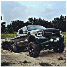 jacked up trucks chevy 4x4 Trucks, Lifted Ford Trucks, Custom Trucks, Cool Trucks, Chevy Trucks, Lifted Chevy, Ford Diesel, Diesel Trucks, Ford Powerstroke