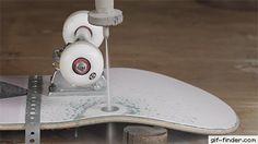 Exploding Skateboard Wheels With Waterjet