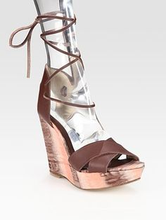 bacbe2776035 Theodora   Callum - Lace-Up Leather Tie-Dyed Wedge Sandals