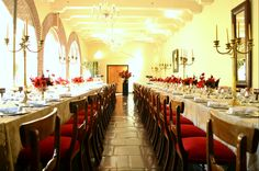 We loved creating this formal luncheon at the Castle of Good Hope. A gold and damask combination with plush red chairs. #eventplanning #eventdecor