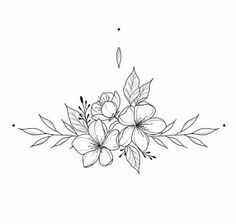 White background Tattoo for man and woman - Flower Tattoo Designs Mini Tattoos, Body Art Tattoos, Tattoo Drawings, Small Tattoos, Cool Tattoos, Easy Tattoos, Tatoos, Small Flower Tattoos, Wolf Tattoo Design