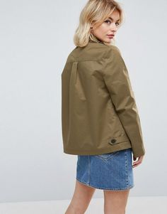 Parka London Aya Faux Fur Lined Lightweight Jacket - Green