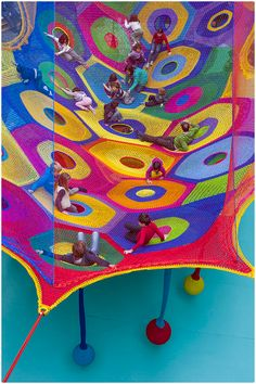 """Harmonic Motion"" -- Crochet Playground at Toledo's Museum of Art! http://wp.me/pjlln-2KZ #crochet #art #knithacker"