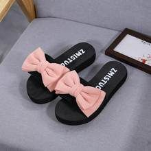 Women Bow Summer Sandals Slipper Indoor Outdoor Flip-flops Beach Shoes New Fashion Female Casual flower Slipper chanclas mujer Cute Slippers, Summer Slippers, Flip Flop Slippers, Flip Flop Shoes, Grunge Style, Soft Grunge, Timberland Boots, Souliers Nike, Sneakers Fashion