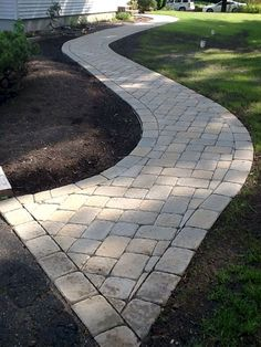 Gorgeous Pathway Landscaping Ideas For A Beautiful Walkway Garden Design Front Yard Walkway, Paver Walkway, Front Yard Landscaping, Landscaping Ideas, Walkway Ideas, Front Yards, Yard Ideas, Paver Sidewalk, Paver Sand