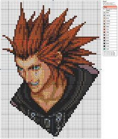 Axel Kingdom Hearts Cross Stitch