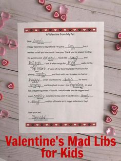 happy valentines day These Valentines Day themed printable mad libs for kids are perfect for class valentines day parties, or as a fun activity to include with valentines kids give out to friends. Kinder Valentines, Valentines Day Funny, Valentines Day Activities, Fun Activities For Kids, Valentine Day Crafts, Writing Activities, Family Activities, Valentine's Day Quotes, Valentine's Day Printables