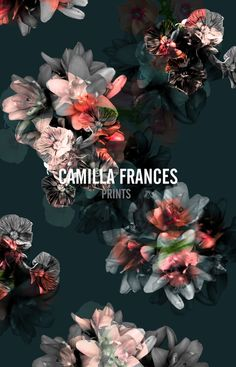 Camilla Frances Prints Print Wallpaper, Pattern Wallpaper, Textures Patterns, Print Patterns, Textile Prints, Floral Prints, Camilla, Cute Wallpapers, Cute Art