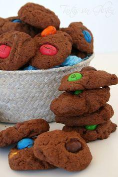Tartas sin Gluten .....365 dias sin gluten: Cookies de Chocolate y Conguitos #MayoCeliaco