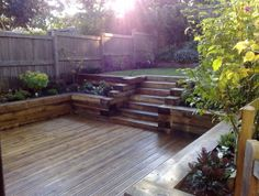 1000 images about retaining wall on pinterest railway for Garden decking ideas uk