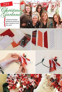 Quick and easy Christmas garland tutorial from Riffraff