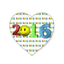 #MostPopluarThisWeek Happy New Year 2016 numbers funny smiling Emoji Heart Sticker