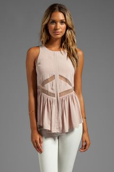 Finders Keepers Bright Side Top in Shell/Nude from REVOLVEclothing