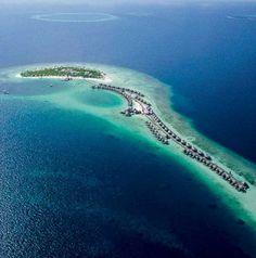 best overwater bungalow resorts maldives halaveli aerial