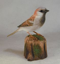 This carving is hand carved from basswood and fully detailed by burning pen. Both bird and base are finished with acrylic paints. Over the past ten years, Hummingbird Studio has supplied the hand carvings for collectors of.   eBay!