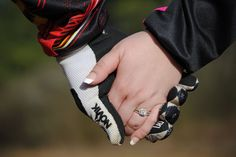 Motocross engagement pictures with ring. JCphotography