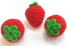 Crocheted Strawberries- free crochet pattern