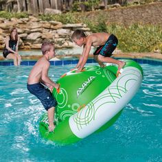 """61.23 Saturn Rocker"""" Inflatable The Aviva Saturn Rocker Pool Toy puts a whole new spin on pool fun! Your kids can climb, slide, spin, and lounge the summer away on this durable inflatable for the lake or pool."""