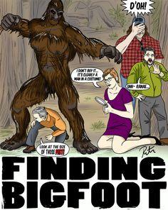 Finding Bigfoot illustration from deviantART