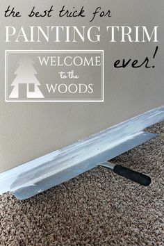 Wood Trim Tutorial-ORC Week 2 How to Paint Wood Trim so that it lasts! A great video tutorial included and step-by-step guide.How to Paint Wood Trim so that it lasts! A great video tutorial included and step-by-step guide. Painting Wood Trim, Painting Baseboards, Diy Painting, Painting Trim Tips, Painting Hacks, Steps To Painting A Room, Painting Door Frames, Paint Wood Paneling, Painting Interior Doors
