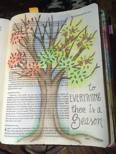 Bible journaling Ecclesiastes Everything in His time. Sherrie Bronniman - Art Journaling: In My Bible My Bible, Bible Art, Bible Scriptures, Bible Study Journal, Scripture Study, Art Journaling, Scripture Journal, Book Journal, Bible Drawing