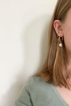 Fall Jewelry, Trendy Jewelry, Summer Jewelry, Etsy Earrings, Pearl Earrings, Hoop Earrings, Dainty Gold Jewelry, Bridesmaid Earrings, Baroque Pearls