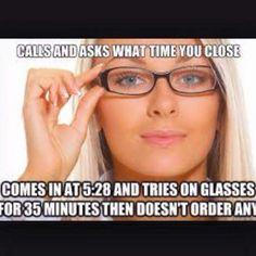 #visioncenterproblems Work Memes, Work Humor, Work Funnies, Eye Jokes, Optometry Humor, Cute Quotes, Funny Quotes, Eye Doctor, Office Humor