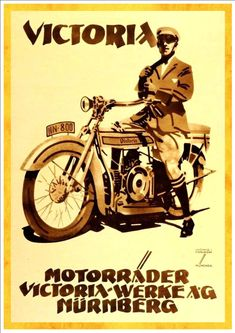 """Victoria Motorcycles"" - Art Print Taken From A Vintage Motorcycle Advertisement"