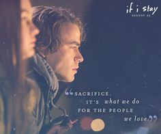 What would you give up for someone you love? #IfIStay