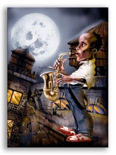 Cuadro El Saxofonista _2