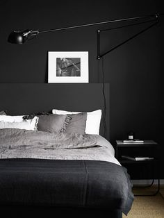 Black, white, and gray bedroom
