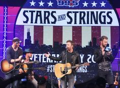 Eric Paslay, Dierks Bentley, Charles Kelley from Musicians Performing Live on Stage  The country artists come together as CBS Radio presents Stars & Strings benefiting Folds of Honor.