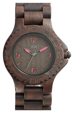 WeWOOD & # Kale & # Holzarmbanduhr, - Do you have the time? Wood Bracelet, Bracelet Watch, Jewelry Accessories, Fashion Accessories, Wooden Watch, Things To Buy, Kale, Jewlery, Jewelry Watches