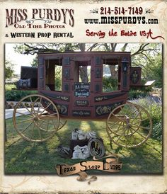 """""""Texas Stagelines"""" Stagecoach for rent in Raleigh NC for Stagecoach Festivals & Fairs with complete mobile service to the entire USA and  FREE custom signage on the Stagecoach door including your custom verbiage and logo!"""