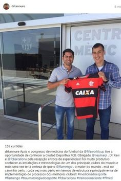 Médico do Flamengo visita o CT do Barcelona para troca de experiências
