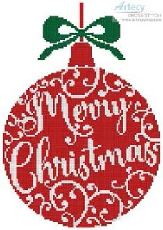 Christmas Bauble 2 cross stitch chart - Artecy Cross Stitch